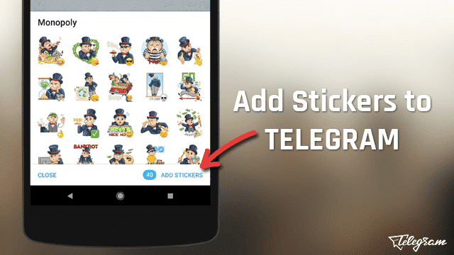 How To Add Stickers To Telegram