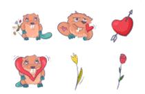 Beaver8March Love Sticker